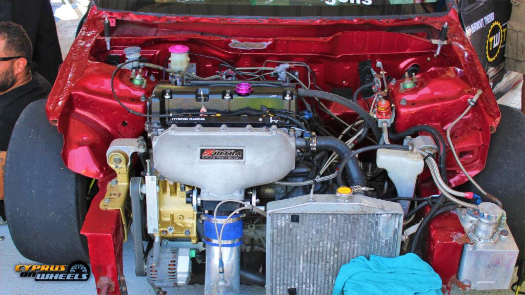 Honda K swap nitrous drag setup