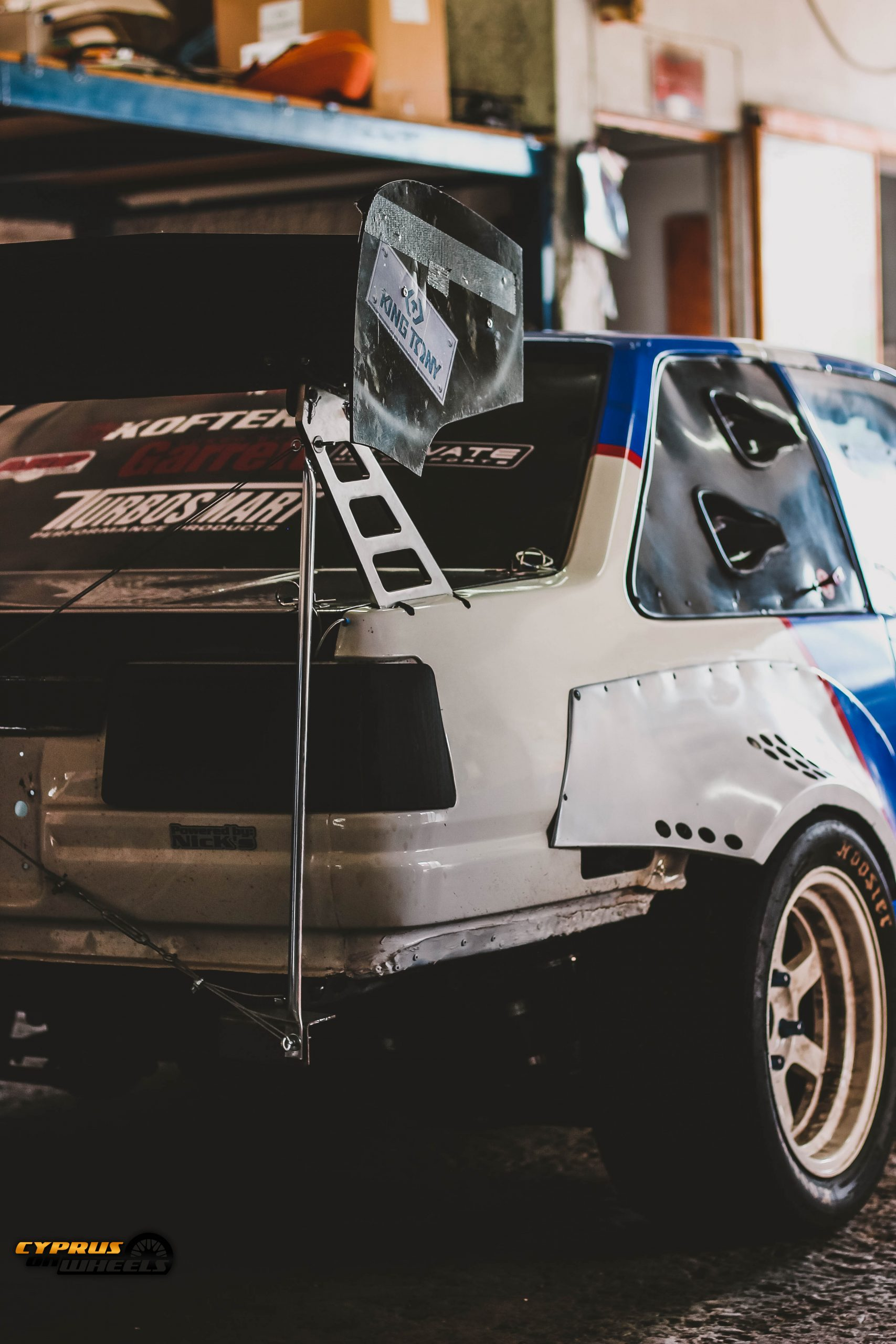 ae86 chassis mounted wing