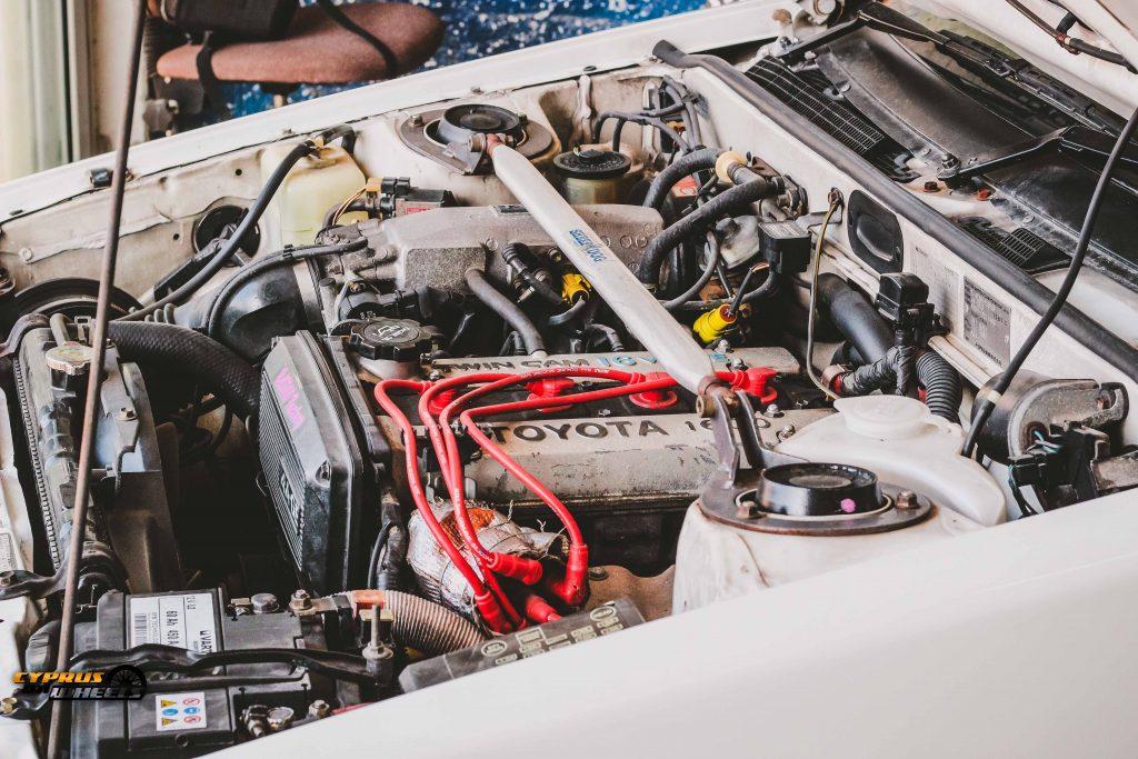 stock 4age engine bay toyota